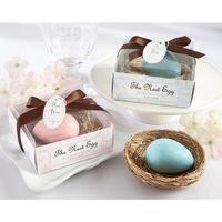 Wholesale  12pcs/lot romantic  egg-shape Soap for Bath Body Wedding Gift scented decorative handmade soap