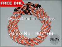 2013 hot fashion braid titanium sport necklace in different colors