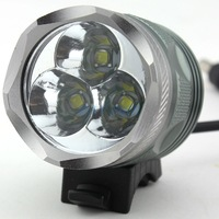 2 in1 T6 Bike Light & Headlight 3 x CREE XML T6 LED 3800 Lumens 3 Mode Waterproof Bicycle Light + 8.4v Battery Pack + Charger