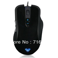 AULA Gaming Mouse USB 2000 DPI Wired Music 7 color Control Breth Light Zhanhun