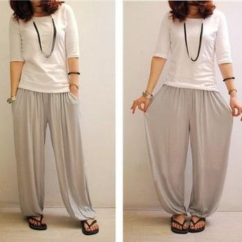 2014 Better fabric loose yoga pant plus size long trousers pajama pantsharem pants ...