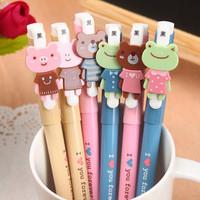 Korea stationery cartoon animal unisex 0.38mm pen clothes 8655