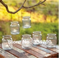 "3.7"" H Glass hanging candle holder  USD48.00 for 12pcs/ lots    each USD3.75"