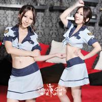 Female police uniform stewardess clothing costume 7014