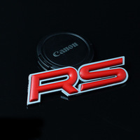 Refires hangback rs sign of rs label 3d sports edition label three-dimensional metal scalar discontinuing,Free shipping