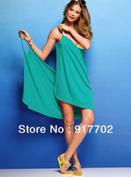 Summer new bikini thin outer tunic dress beach suspender skirt free shipping