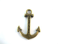 Hot Sale Anchor Charm Antique Gold Plated Charms Zinc Alloy Fashion Jewelry Pendant Fit Necklace Findings a1459