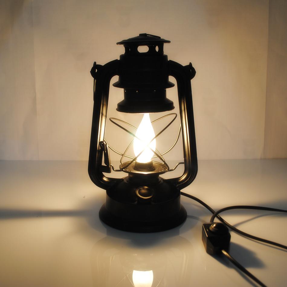 집에서 빛 램프 빈티지 등유 램프 랜턴 전원 공급 플러그 28cm ...