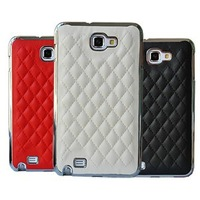 Luxury Little Sheep Leather Hard Back Cover Case for Samsung N7100 Galaxy Note II EMS Free shipping 50pcs/Lot