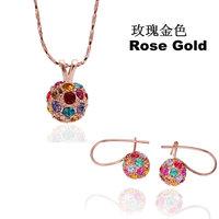 18K gold jewelry set fashion ring Genuine Austrian crystals italina jewelry set,Nickle free antiallergic ctez inwo