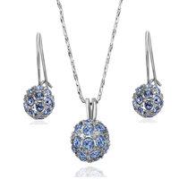 18K gold jewelry set fashion ring Genuine Austrian crystals italina jewelry set,Nickle free antiallergic gqbp mpjf