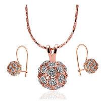 18K gold jewelry set fashion ring Genuine Austrian crystals italina jewelry set,Nickle free antiallergic appa favu