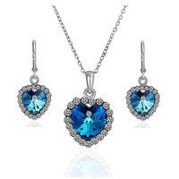 18K gold jewelry set fashion ring Genuine Austrian crystals italina jewelry set,Nickle free antiallergic amtk tthn