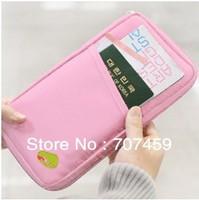 DHL Free shipping !100pcs/lot  Fashion New Travel Passport Credit ID Card Cash Holder Organizer Wallet Purse Case Bag Multicolor