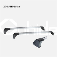 Whisper bar 2pcs/set Universal Aluminium-Alloy Roof Rack Car-top Racks Length Adjsuatble With One key system in free shipping