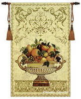 Exquisite home textile decoration 100% cotton tapestry wall hangings wedding gift fruit bowl-2 big jacquard fabric can custom