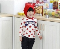 Children's clothing male child clothes child t-shirt male female child long-sleeve baby 100% cotton autumn basic shirt