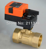 100% QUALITY Two way 3/4'' proprotional valve AC/DC24V 0-10V modulating on/off valve for flow regulation or on/off control