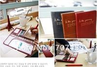 DHL Free shipping!Korea Style Leather Long Handy Travel Passport Credit ID Card Cash Holder Organizer Wallet Purse Case Bag