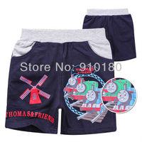 Wholesale 6pcs/lot baby boys cartoon tomas train summer pants kids summer trousers
