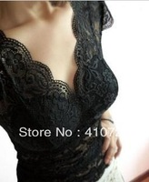 Full three-dimensional super sexy lace V-neck with wild bottoming lace vest inserts cup free shipping