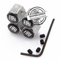 Free shipping! (4PCS) metal Tire Valve Stem Caps easy DIY decoration, Car Logo emblem Anti-theft Tire Valve Caps for FIAT, VC122