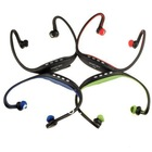 Trendy USB Ear loop Headphones Earphone FM Sport MP3 Music Player W/ TF Slot 4 color black gree