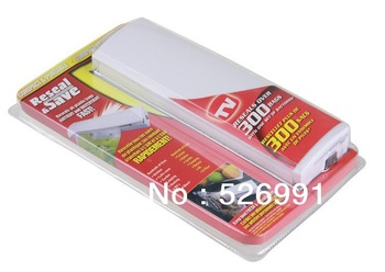 Free Shipping 48pcs/lot Reseal and Save Bag Sealer Food Saver  Portable Vacuum Sealer As Seen On TV