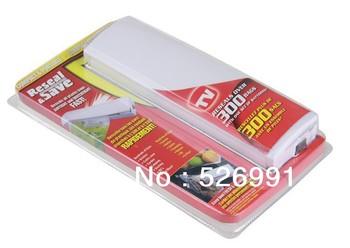 Free Shipping 48pcs/lot Reseal and Save Bag Sealer Food Saver  Portable Vacuum Sealer As Seen On TV
