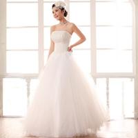 Beads wedding dress wedding dress bandage wedding dress bow princess wedding dress new arrival 2014