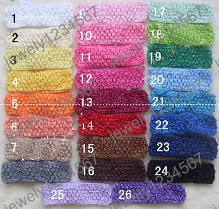 Free shipping! baby headband Crochet head band baby boy & girl 1.5 INCN Crochet Headband soft Multi-Colored(China (Mainland))