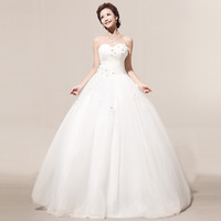 2013 handmade flower dress bride hs257