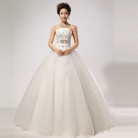 2013 wedding handmade diamond strap tube top wedding dress hs269