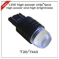 Super Bright 1.5W Lens Buid-In Chip Yellow High Power  T20 7443 7440 Car Tail Led Bulb Light Free Shipping 2pcs/lot  2pcs/lot