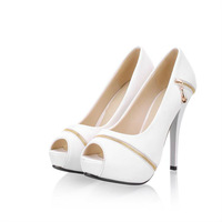Lady Women Open Toe Platform High Heels Pumps Shoes Size EU 35-39/US 4-8