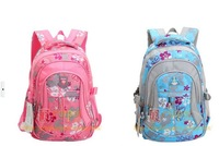 Free shipping Wholesale and Retail children backpack double zipper Waterproof school bags boys and girls backpack bags