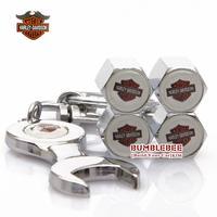 Free shipping!4PCS)metal Tire Valve Stem Caps easy  decoration Logo emblem   Tire Valve Caps for Harley-motorcycle 250-GX