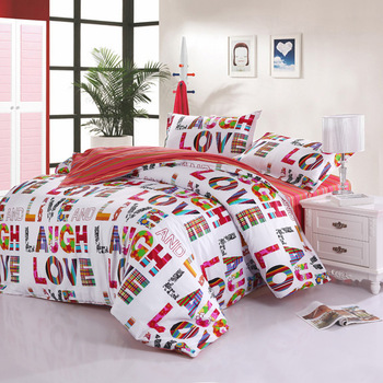 "2013 New 4Pcs 100% cotton Rural ""love"" bedding set quilt covers home accessories Free shipping A1"