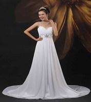 High waist slit neckline train wedding dress cuicanduomu gorgeous handmade beads