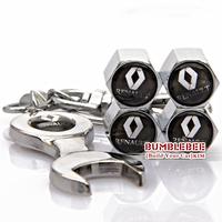 Free shipping!(4PCS)metal Tire Valve Stem Caps easy DIY decoration,Car Logo emblem   Tire Valve Caps for Renault,VC252-GX
