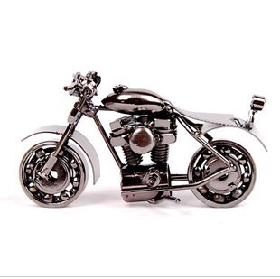Model motorcycle iron crafts decoration modern boy toy cars birthday gift male