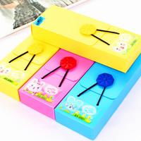 Free Shipping New arrival o-neck pencil case korea stationery cartoon small storage box