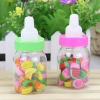 Free Shipping Bottle rubber eraser korea stationery fruit elementary student school supplies 40g