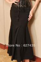 Wholesale!FREE SHIPPING!(10pieces) 100% Brand New Women's Sexy Skirt, Lace-up Black Maxi Skirt LC71027 Cheap price