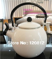 ZAKKA export to Japan porcelain whistling kettle,enamel water boier for induction cooker,gas & natural gas stove furnance 2.2L