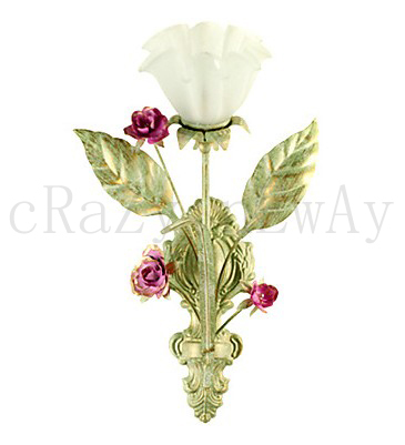 free shipping Country Style Wall Light with 1 Light in Floral Design(China (Mainland))