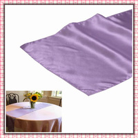 """Free shipping  20 pieces 12""""x108"""" Lavender Satin Table Runner Wedding Party Banquet Decoration"""