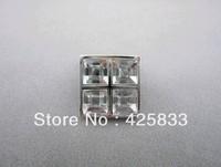 Single Square Crystal& Zinc Alloy Glass Furniture Kitchen Cabinets Handles Door Knobs Dressers Knob Drawer Pulls