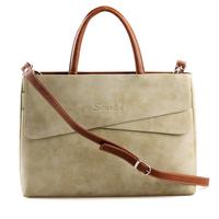 Free Shipping new fashion shoulder cross body retro vintage handbag women's briefcase business laptop bag Genuine leather bags