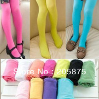 wholesale stylish children velvet pantyhose fashion girl candy color leggings Pantyhose stockings 3 size many colors